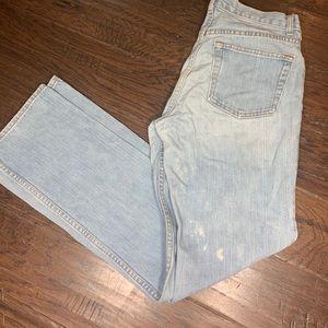 Button fly mid waist Gap straight leg jeans size 6